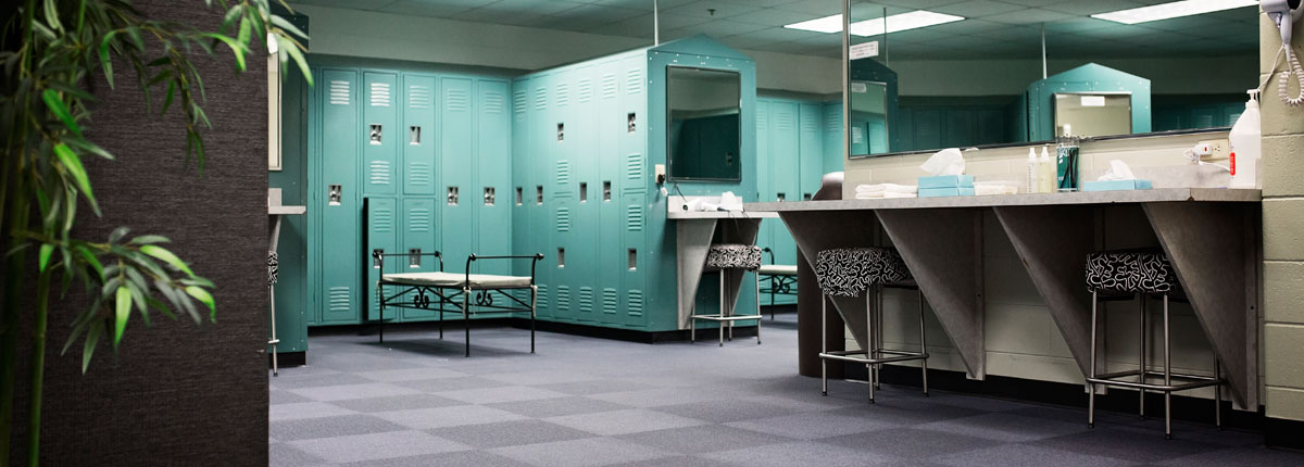 Locker Room at West Hills Athletic Club