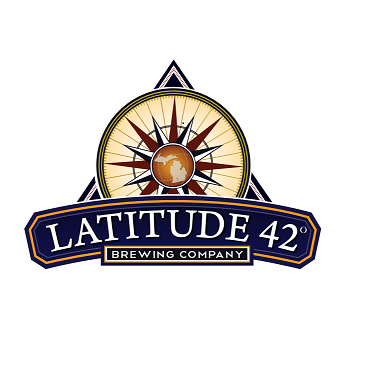 Latitude 42's logo: A compass rising above the company's name, bounded by a triangle.